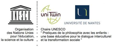 LOGO CHAIRE UNESCO PHILOSOPHIE AVEC LES ENFANTS